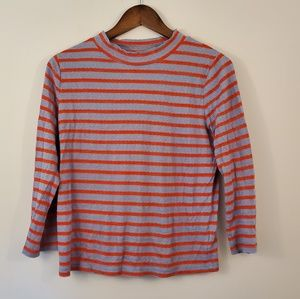 Free People gray orange striped tunic large